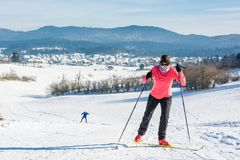 Cross country skier Stock Photography