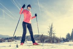 Cross country skier Royalty Free Stock Photos