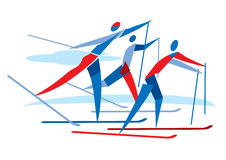 Cross country skiers Royalty Free Stock Image