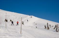 Cross Country-Skifahren Stockfoto