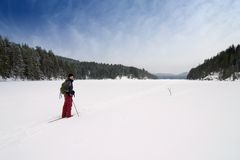 Cross Country Skiing Stock Photos