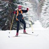 Cross-country skiing Stock Photo