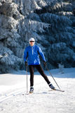 Cross-country skiing Royalty Free Stock Photography