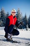 Cross-country skiing Stock Image