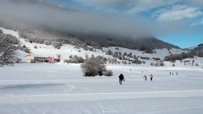 Cross-Country Skiing Abruzzi Italy stock video