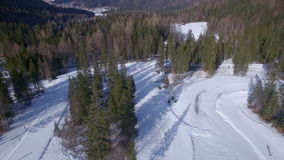 Cross country skiing stock video footage