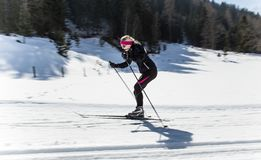 Cross country skiing. Close-up Royalty Free Stock Photos