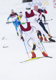 Cross country skiing competition royalty free stock images