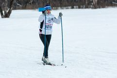 Cross-country skiing competitions Royalty Free Stock Photo