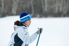 Cross-country skiing competitions Stock Photo