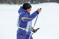 Cross-country skiing competitions Stock Photos