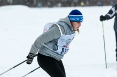 Cross-country skiing competitions Royalty Free Stock Images