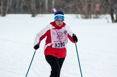 Cross-country skiing competitions Royalty Free Stock Photography