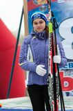 Cross-country skiing competitions Stock Photography