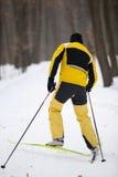 Cross-country skiing man Stock Photo