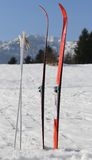 cross country skiing in the mountains Stock Photography