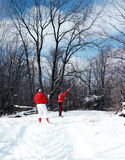 Cross Country Skiing, Ontario Canada. Cross country skiing in Ontario. 6x7 drum scan Royalty Free Stock Images