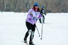 Cross-country skiing Stock Images