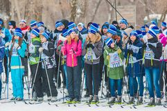Cross-country skiing, Royalty Free Stock Images