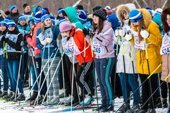 Cross-country skiing, Stock Photography