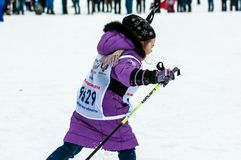 Cross-country skiing, Royalty Free Stock Photography