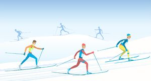 Cross country skiing. Stock Photo
