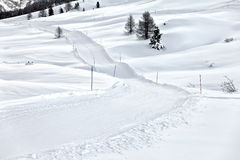 Cross country skiing track, Italy Stock Photos