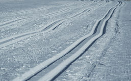 Cross-Country Skiing Track Royalty Free Stock Photography