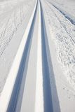 Cross country skiing tracks Stock Photography