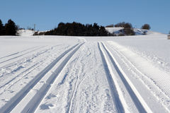 The cross-country skiing trail Royalty Free Stock Photography