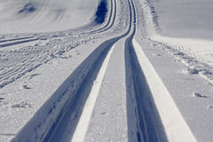 The cross-country skiing trail Royalty Free Stock Photo