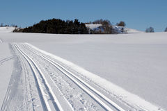 The cross-country skiing trail Royalty Free Stock Photos