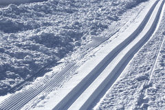 Cross-country skiing trail Royalty Free Stock Images