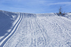 Cross-country skiing trail Stock Photography