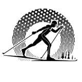 Cross-country skiing. Stock Image