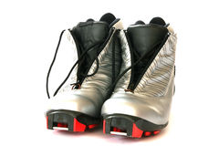 Cross country skying boots Royalty Free Stock Photo
