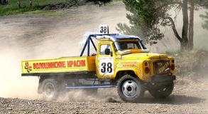 Cross-country truck race Royalty Free Stock Photo