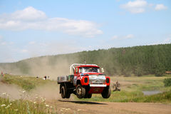 Cross-country truck race Stock Image