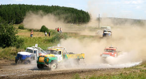 Cross-country truck race Royalty Free Stock Image
