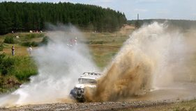 Cross-country truck race Stock Photos