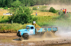 Cross-country truck race Royalty Free Stock Images