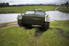 Cross-country vehicle crosses the river Stock Photography