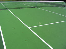 Cross Court. View on a tennis court Royalty Free Stock Photo