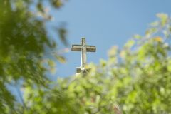Cross. A cross covered in nature royalty free stock photos