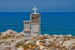 Cross at Cretan Shore Stock Photo