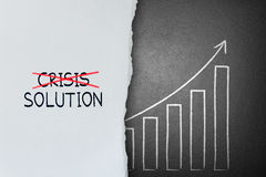 Cross crisis and find solution, Concept of Success Royalty Free Stock Photos