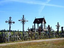 Cross in Cross hill near Siauliai town, Lithuania Stock Images