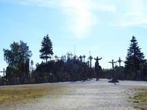 Cross in Cross hill near Siauliai town, Lithuania Stock Image