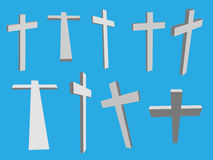 Cross Crosses in Different Perspectives (Vector) Stock Photos
