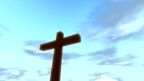 Cross crucifix with time lapse clouds loop christian stock video